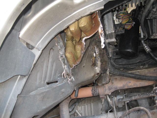 La droga transportada en una pick up conducida por una persona de 62 años.