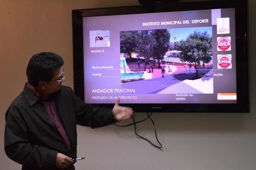 Rehabilitarán andador de unidad deportiva Gustavo Díaz Ordaz.