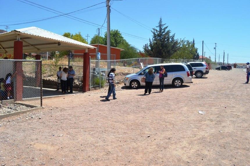 Entrega RGM terreno a escuelas de la colonia San Miguel.