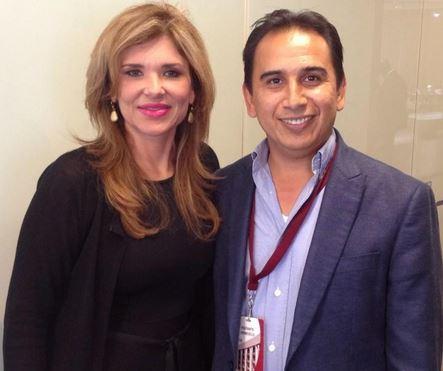 La Senadora sonorense con el alcalde Alberto Natanael Guerrero.