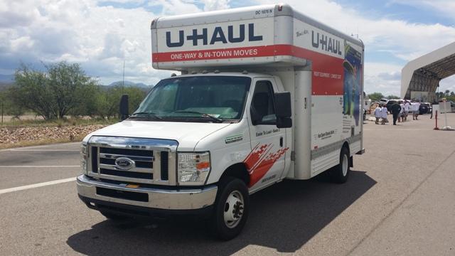 Vehículo utilizado para transportar migrantes.