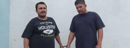 Los detenidos Tapia y López.