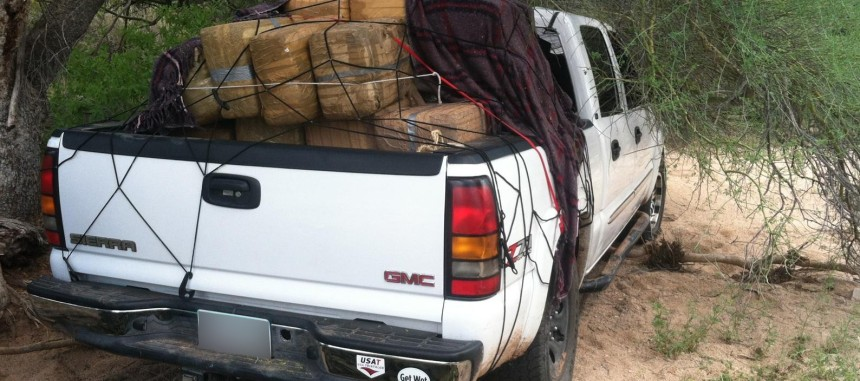 Vehicle used in the attempt to smuggle bundles of marijuana .jpg