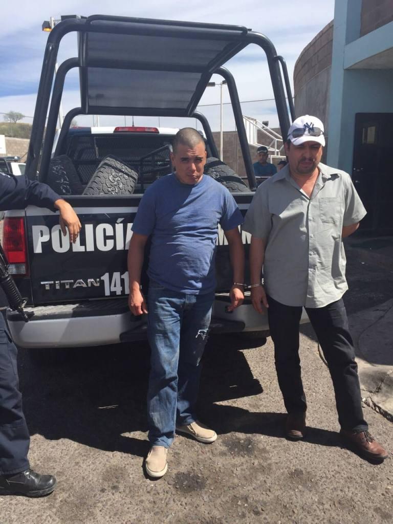 Las dos personas detenidas.