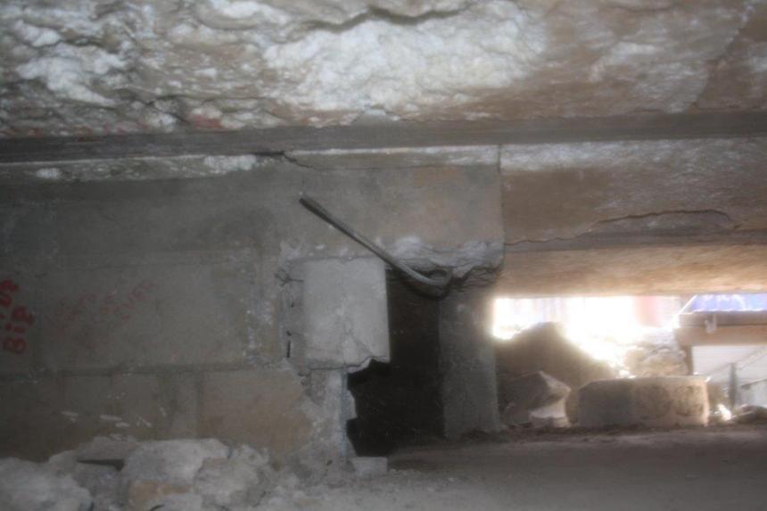 Entrada del tunel.