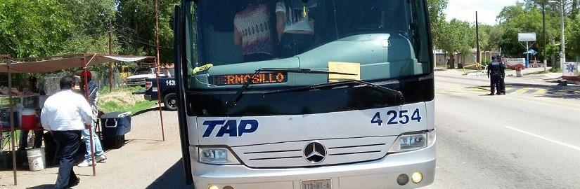 Autobus donde viajaba.